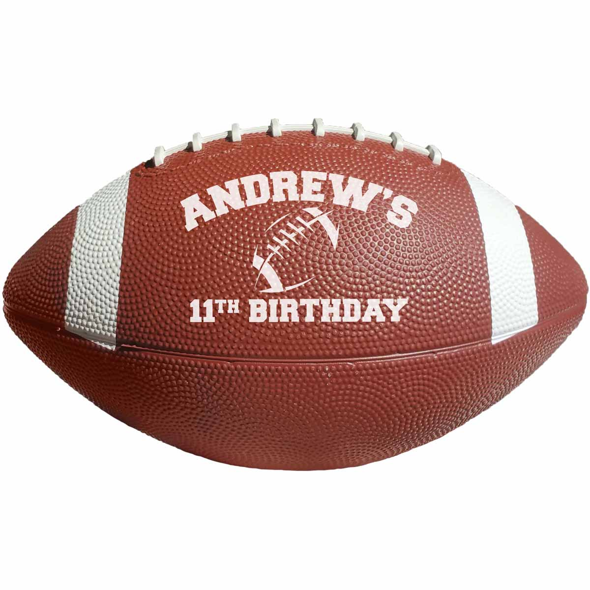 "10 1/2"" Rubber Footballs with White Stripes (Brown)"