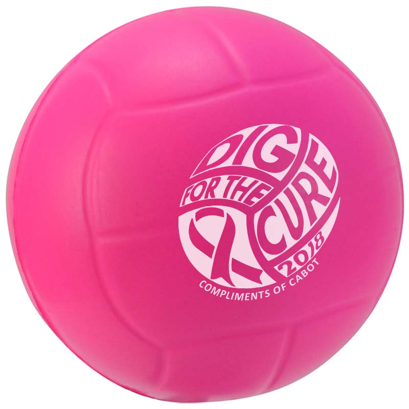 "2 1/2"" Stress Mini Volleyballs (Awareness)"