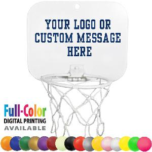 Mini Backboard Sets with Vinyl Blank Basketballs - Mini Backboard Sets w/ Blank Vinyl Basketballs