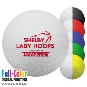 "4"" Foam Mini-Basketballs (2-Tone) - 4 inch Two Toned Foam Mini-Basketballs"
