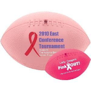 "7"" Vinyl Mini-Footballs (Awareness) - Soft (Rubber like) Mini-Footballs (Awareness Pink)"