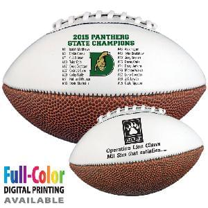 "14"" Signature Footballs (Full–Size) - Full-Size Signature Footballs (Synthetic Leather)"