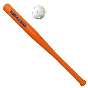 Plastic Bat and Wiffle Ball Sets (printed bat & unimprinted ball) - Plastic Bat w/ Unimprinted Ball
