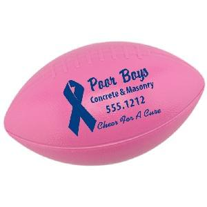 "6"" Pink (Awareness) Plastic Footballs  - 6"" Pink Plastic Footballs"