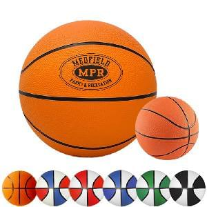 "5"" Rubber Basketballs (Mini) - 5 inch Mini Rubber Basketballs (Size 1)"