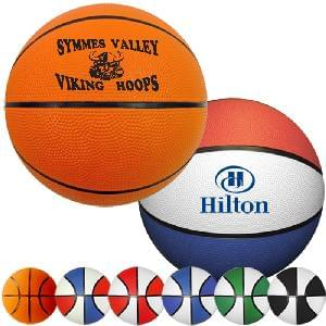 "9"" Rubber Basketballs (Full-Size) - Full Size Rubber Basketballs"