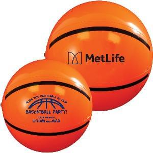 "9"" Basketball Beach Balls - Beach Balls, 9 inch Basketball"