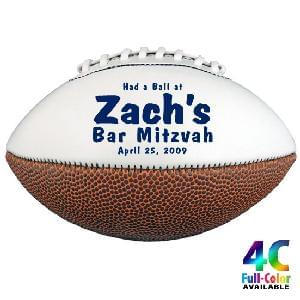 "8"" Signature Mini-Footballs - Mini Synthetic Leather Signature Footballs"