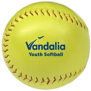 "Softballs, 12"" Synthetic Leather (Optic Yellow) - Optic Yellow Synthetic Leather Softball"