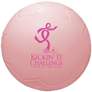 "4 1/2"" Vinyl Mini Soccer Balls (Awareness) - 4.5"" Mini Vinyl Soccer Balls (Awareness Pink)"
