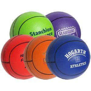 "2 1/2"" Stress Mini-Basketballs - Basketballs Stress Relievers"