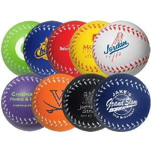 "2 1/2"" Stress Mini-Baseballs - Baseball Stress Relievers (2.5"")"