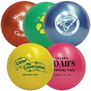 "8.5"" Vinyl Play Balls (Solid Colors) - Ship Deflated - 8.5 inch Vinyl Play Balls - Delated"