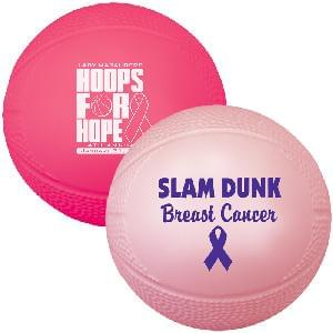"4 1/2"" Vinyl Mini-Basketballs (Awareness) - 4.5"" Mini Vinyl Basketballs"