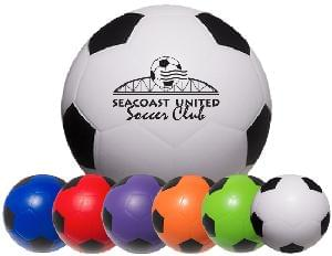"2 1/2"" Stress Mini Soccer Balls - Soccer Ball Stress Relievers"